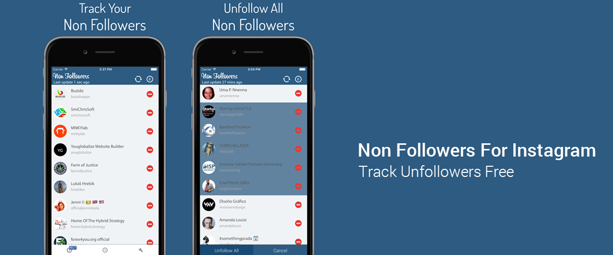 Non Followers For Instagram Track Unfollowers Free